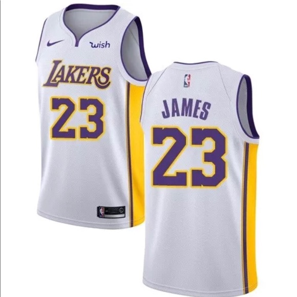 lebron james white jersey lakers
